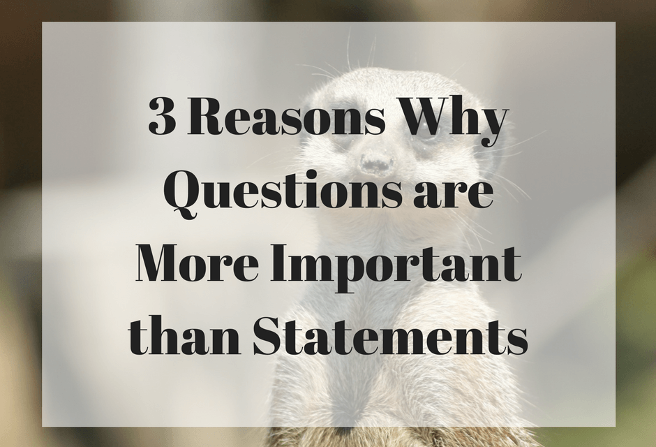 3 Reasons Why Questions are More Important than Statements