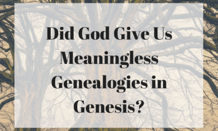 Did God Give Us Meaningless Genealogies in Genesis?