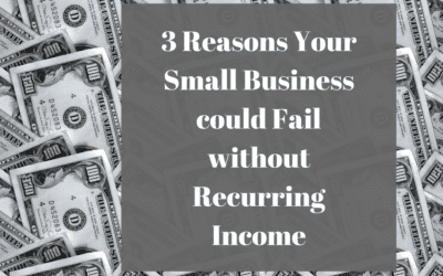3 Reasons Your Small Business could Fail without Recurring Income
